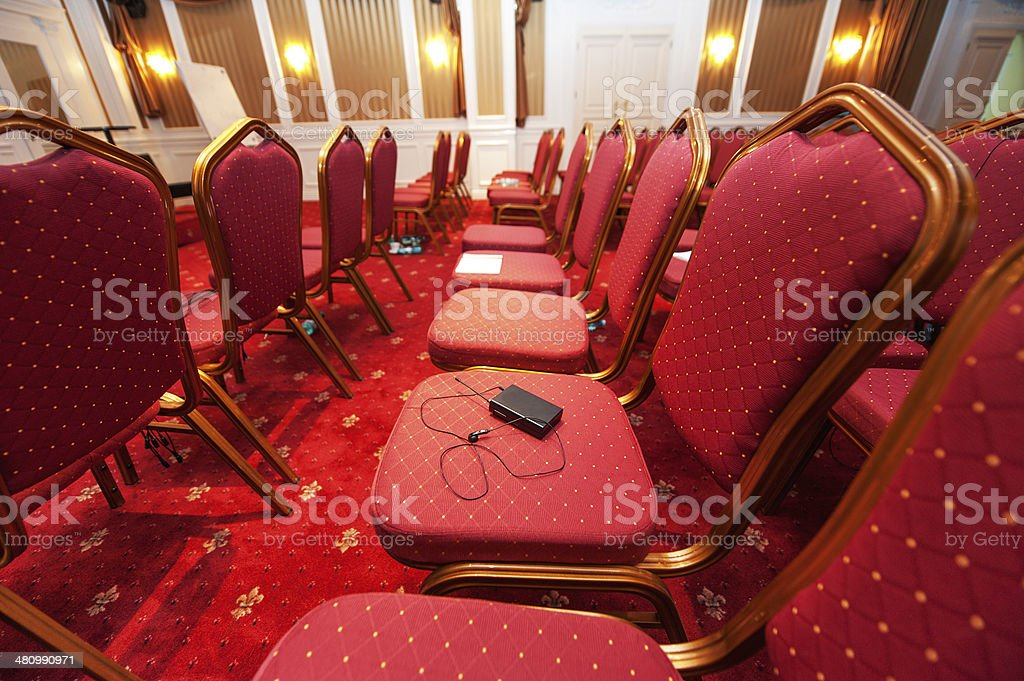 Luxury hotel conference room stock photo