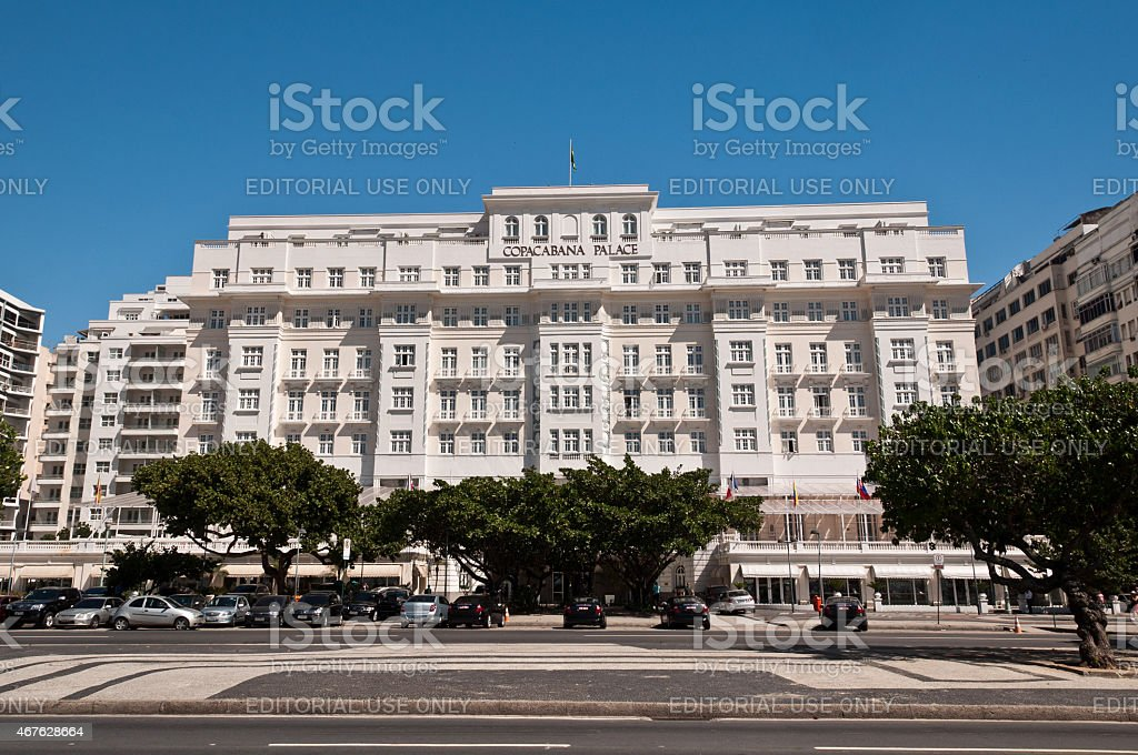 Luxury Hotel Copacabana Palace stock photo
