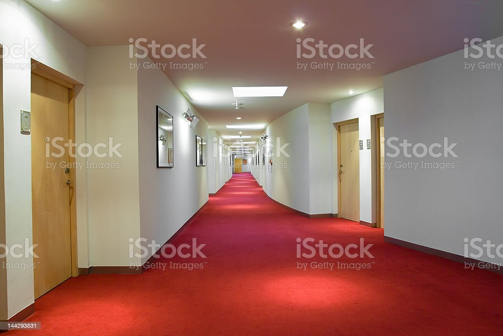 Luxury Hotel Corridor royalty-free stock photo
