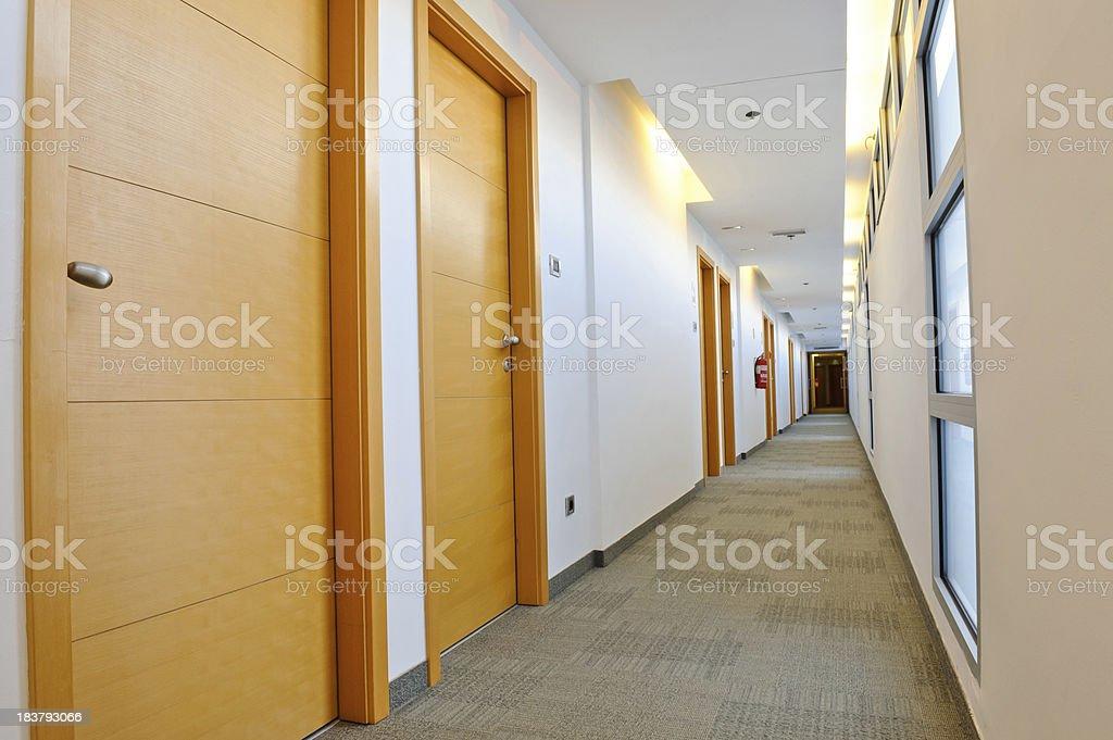 Luxury Hotel Corridor royalty-free stock photo