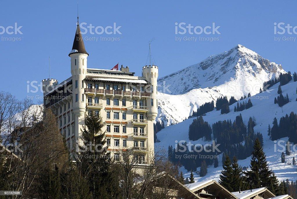 Luxury Hotel - Gstaad, Switzerland stock photo