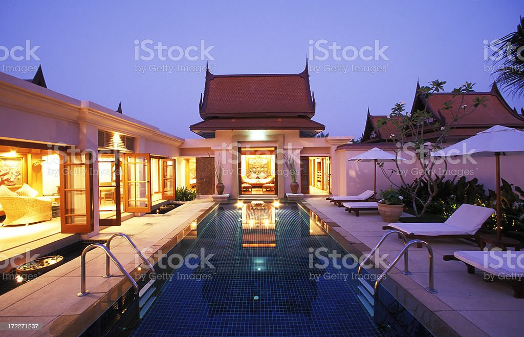luxury hotel holiday villa phuket thailand royalty-free stock photo