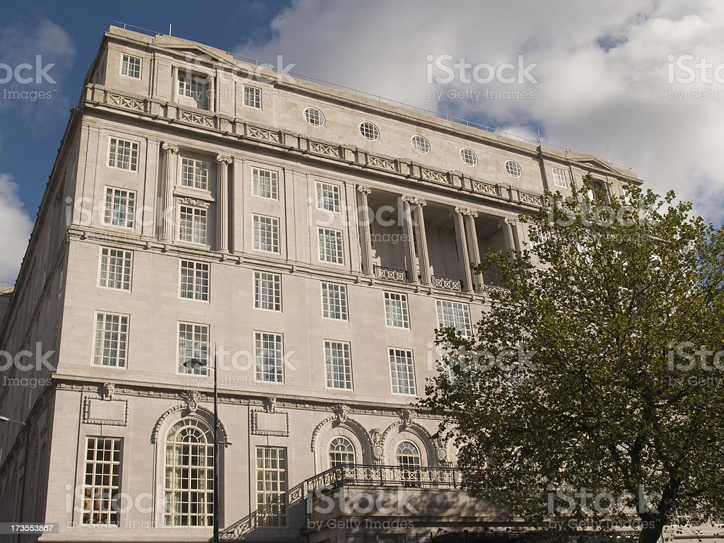 Luxury hotel in England, Early 20th century upmarket royalty-free stock photo