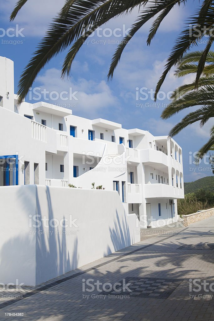 luxury hotel in Greece stock photo