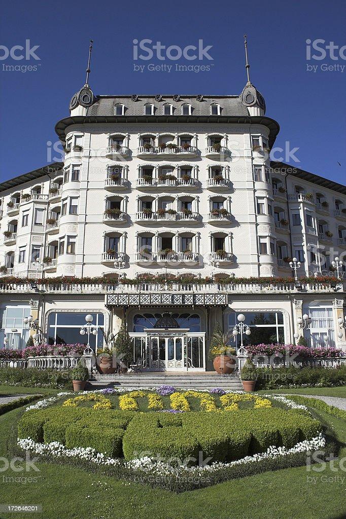 Luxury Hotel.  Lago Maggiore royalty-free stock photo