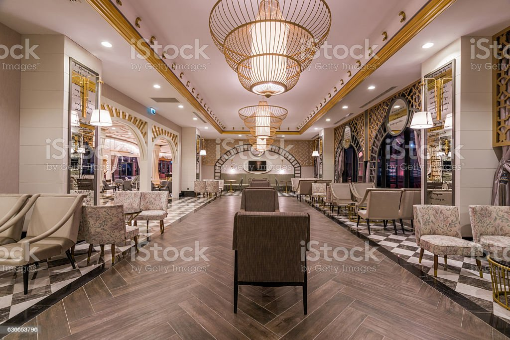 luxury hotel  lobby stock photo