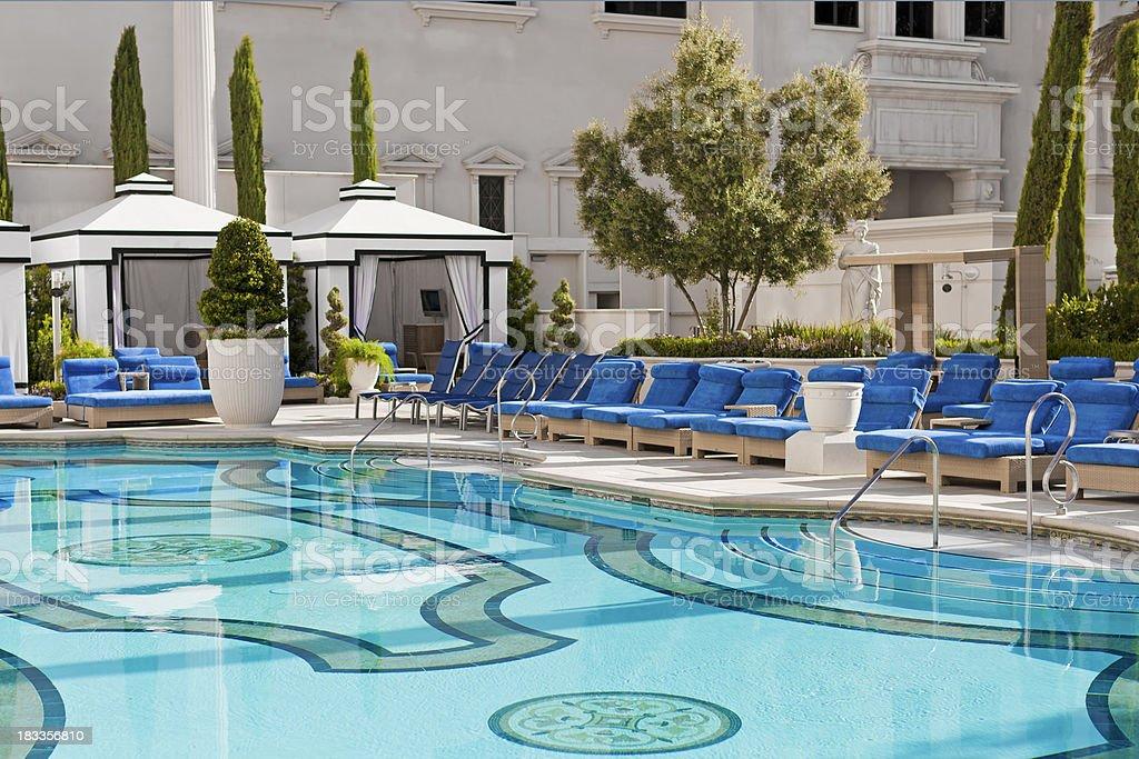 Luxury Hotel Pool royalty-free stock photo