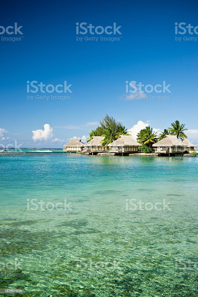 Luxury Hotel Resort in Paradise Lagoon royalty-free stock photo