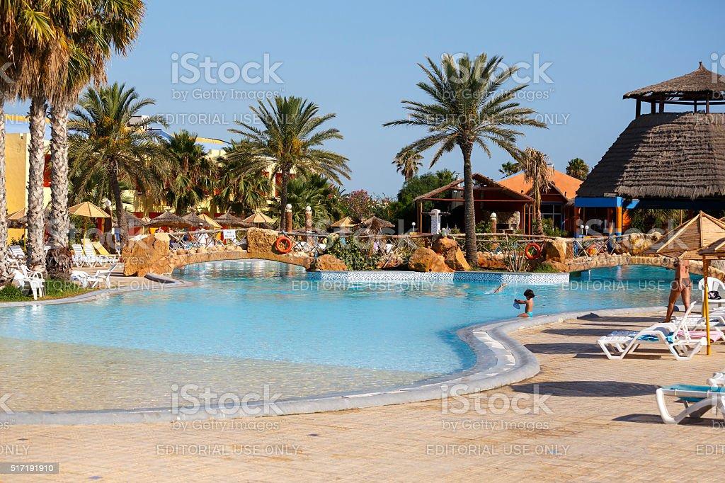 luxury hotel resort in Tunisia stock photo