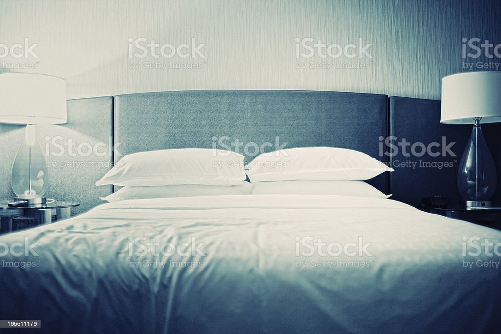 Luxury Hotel Room, Bed royalty-free stock photo