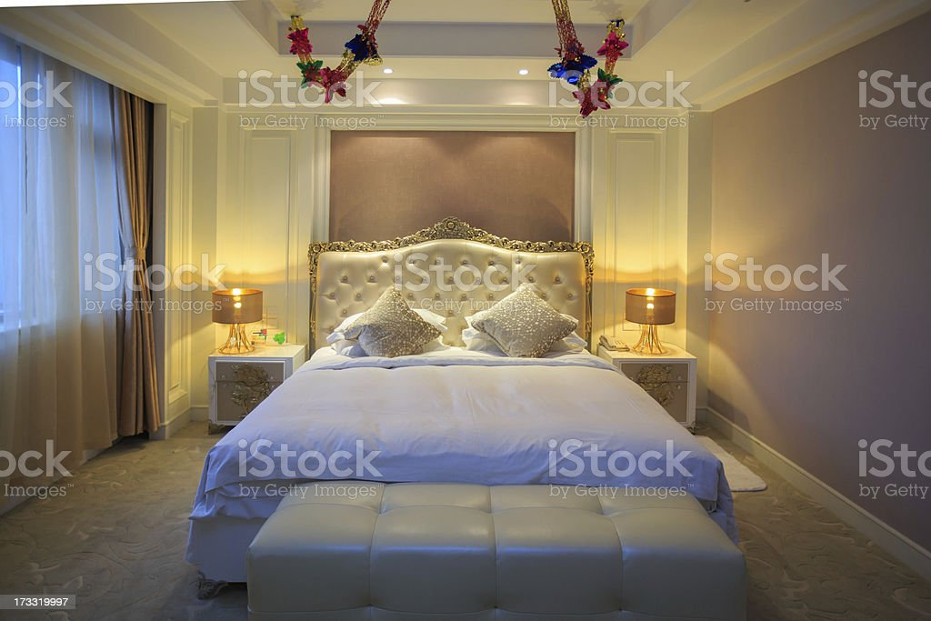 Luxury Hotel room royalty-free stock photo