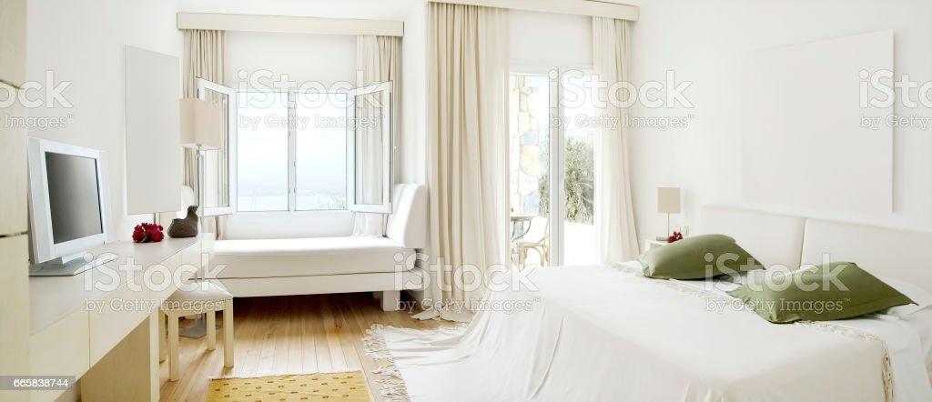 luxury hotel room stock photo