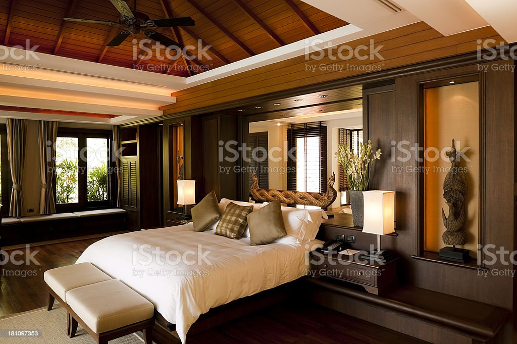 luxury hotel room suite villa phuket thailand stock photo