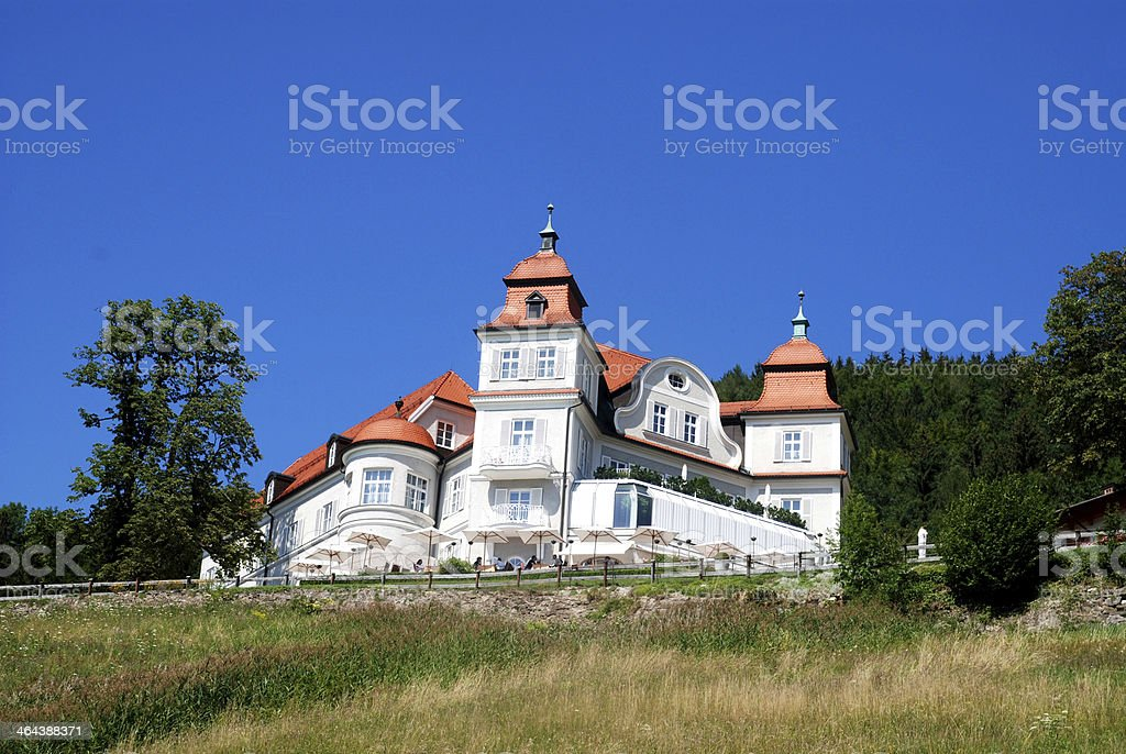 luxury house at tegernsee stock photo