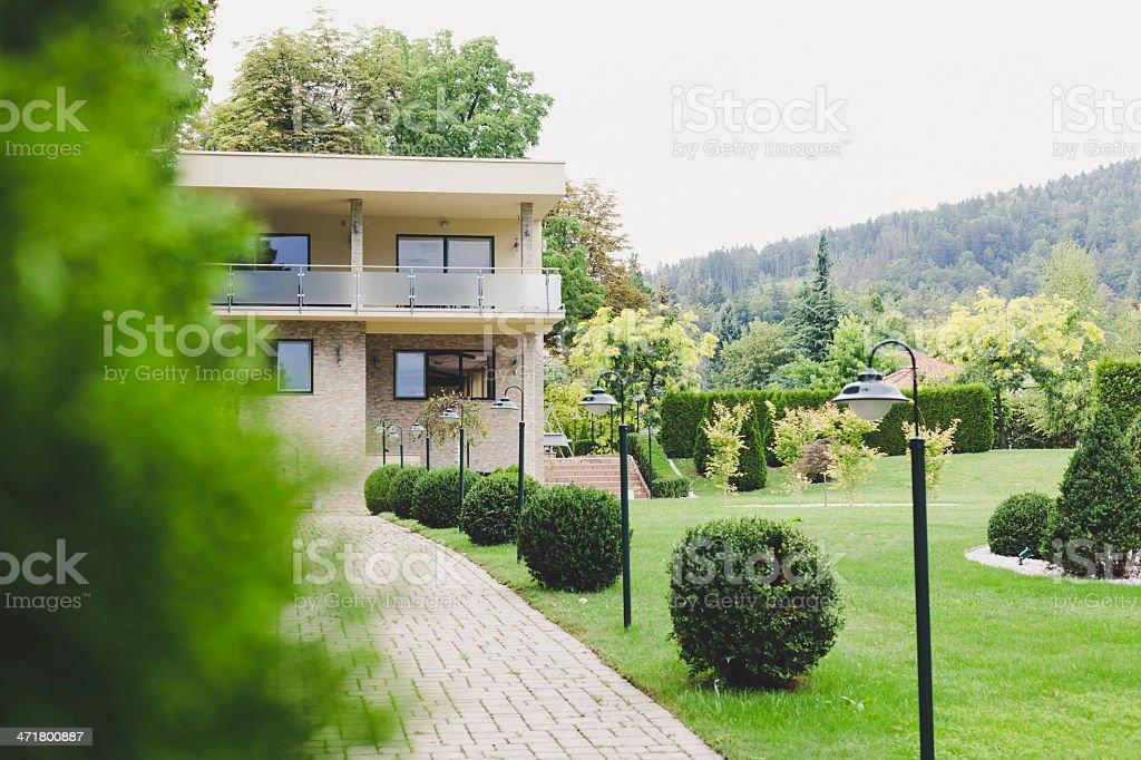 Luxury house in Austria royalty-free stock photo