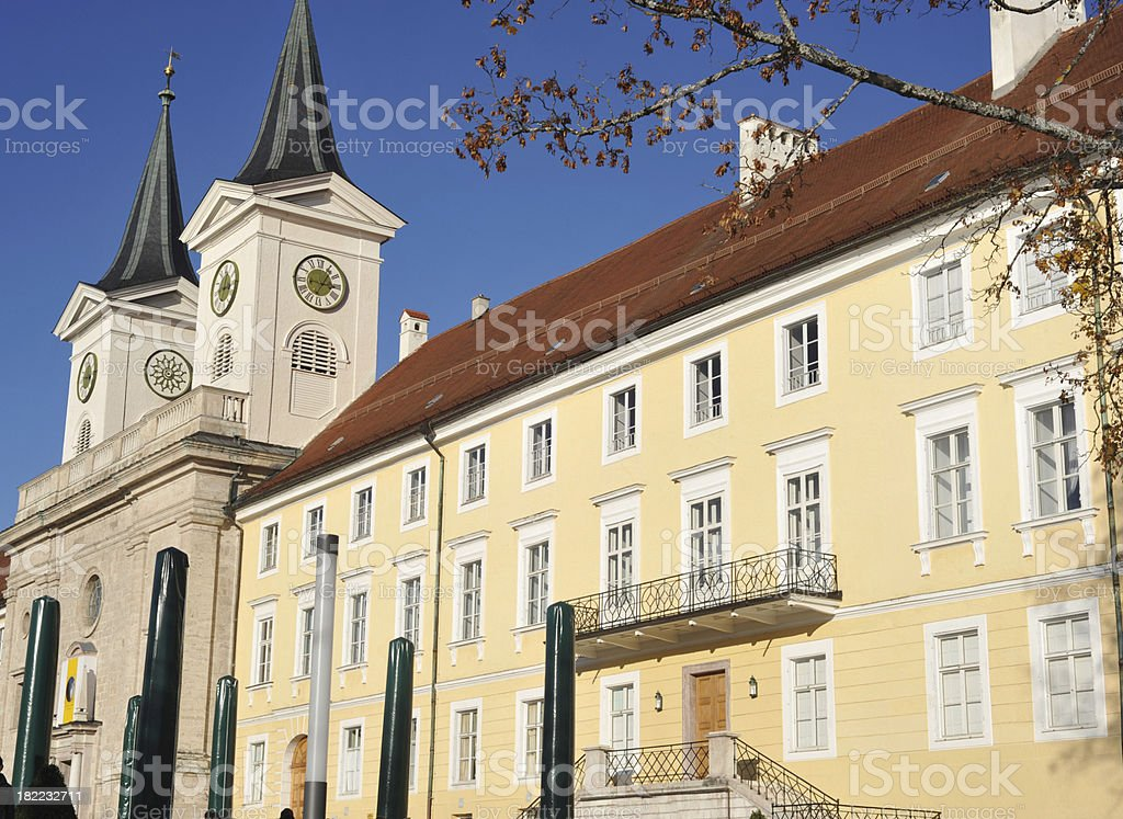 luxury house school and brewery at tegernsee stock photo