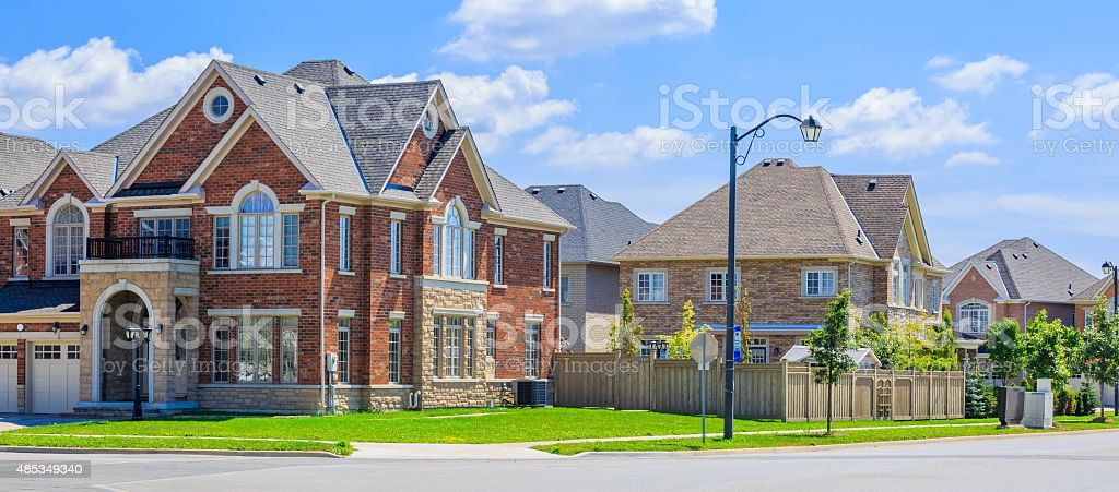 Luxury houses in North America stock photo