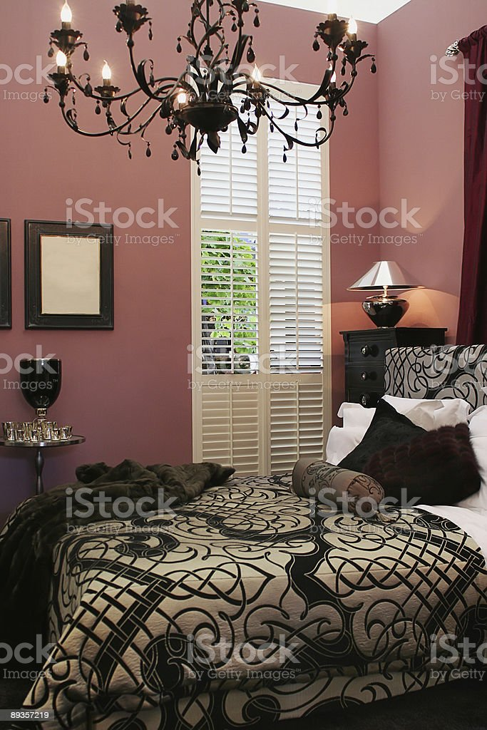 luxury interior of bed room royalty-free stock photo