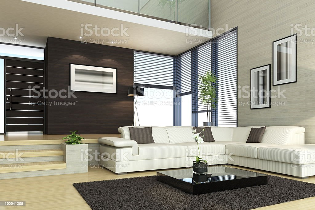 Luxury Interior Penthouse royalty-free stock photo