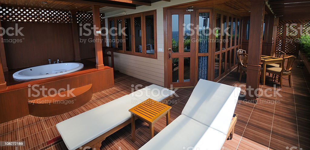Luxury Jacuzzi Villa - President Suite stock photo