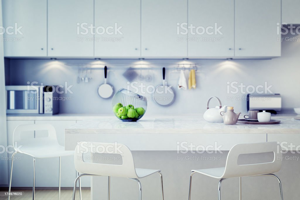 Luxury kitchen countertop stock photo