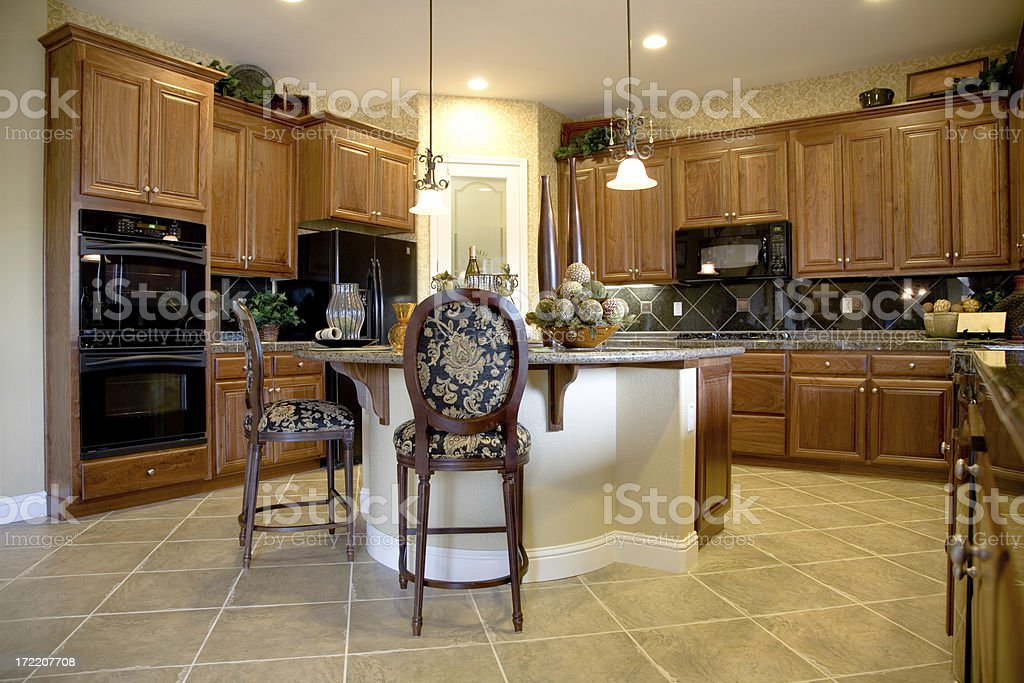 Luxury Kitchen in House royalty-free stock photo