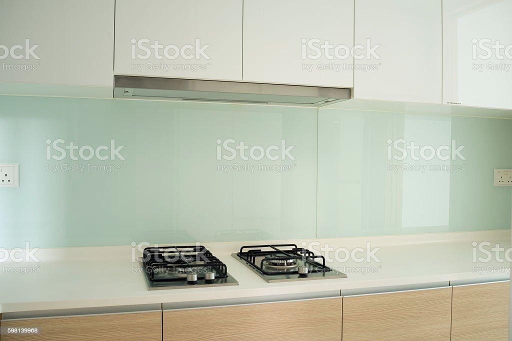 Luxury kitchen in modern design stock photo