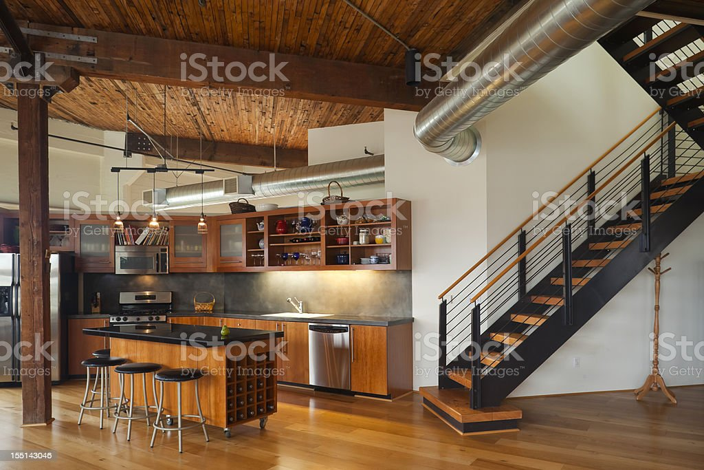 Luxury Kitchen in Modern Home royalty-free stock photo