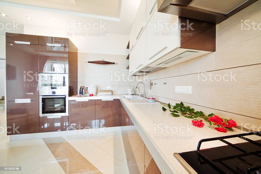 Luxury Kitchen interior royalty-free stock photo