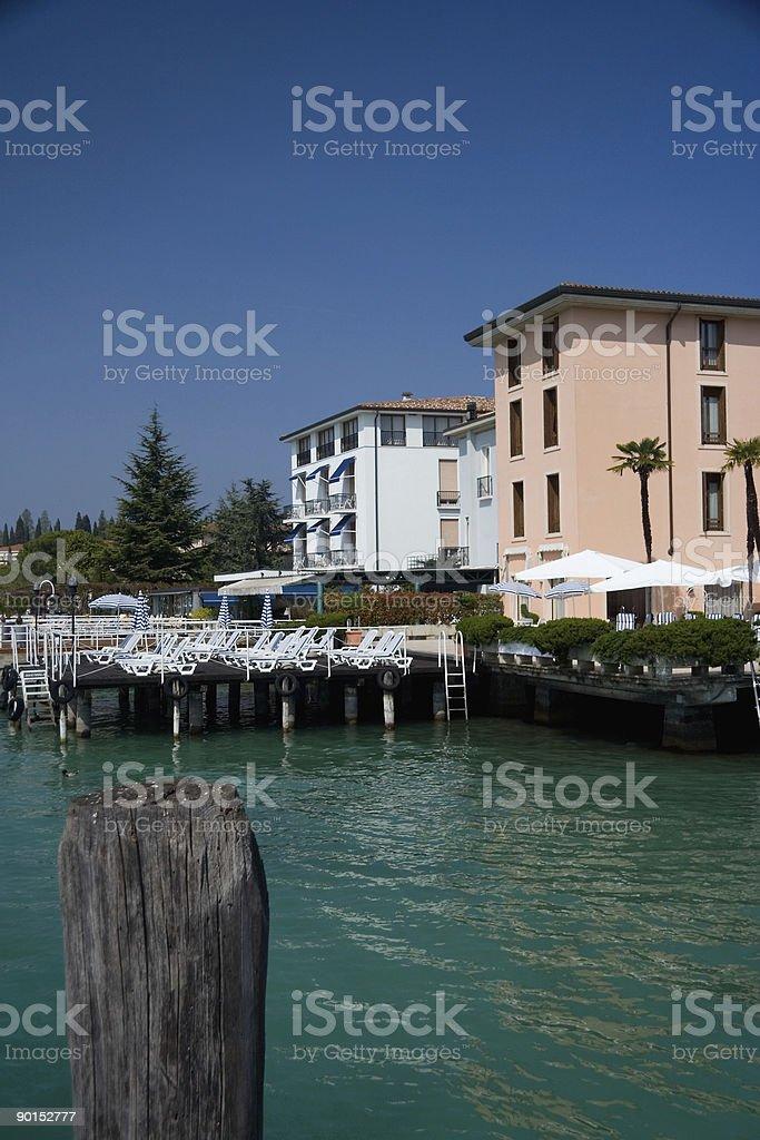 Luxury Lakeside Hotels royalty-free stock photo