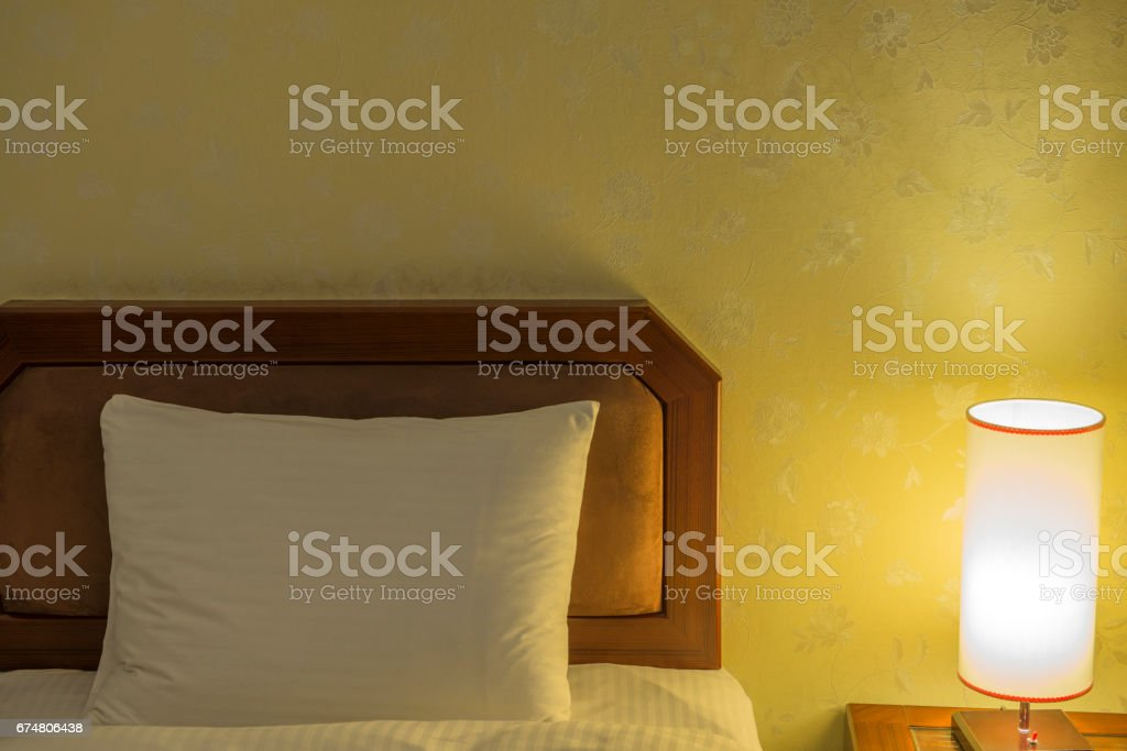 Luxury lamp on table stock photo