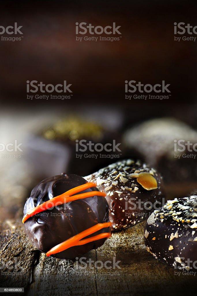 Luxury Liqueur Chocolates stock photo