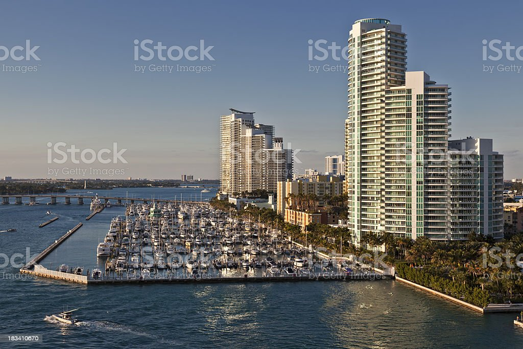 Luxury Living in Miami Florida royalty-free stock photo