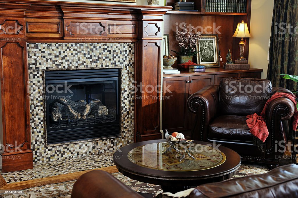 Luxury Living Room in Home Interior royalty-free stock photo