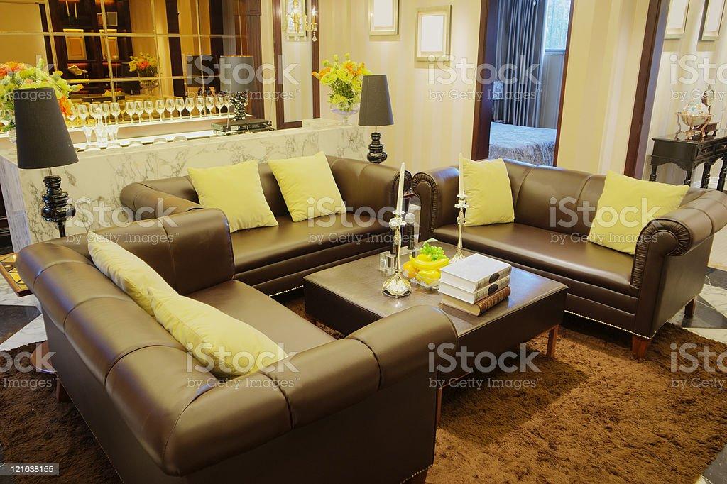 luxury living room royalty-free stock photo