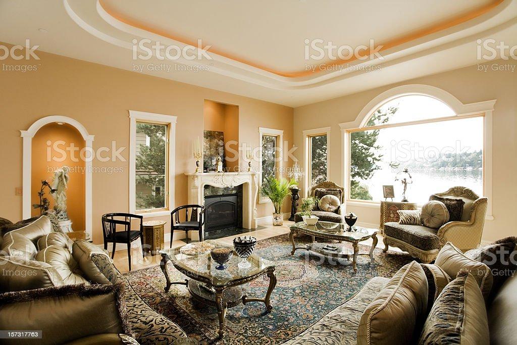 Luxury Living Room stock photo