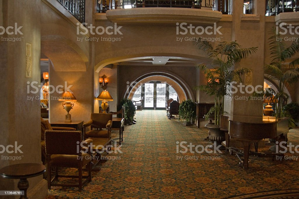 Luxury Lobby ... Banff Springs Hotel royalty-free stock photo