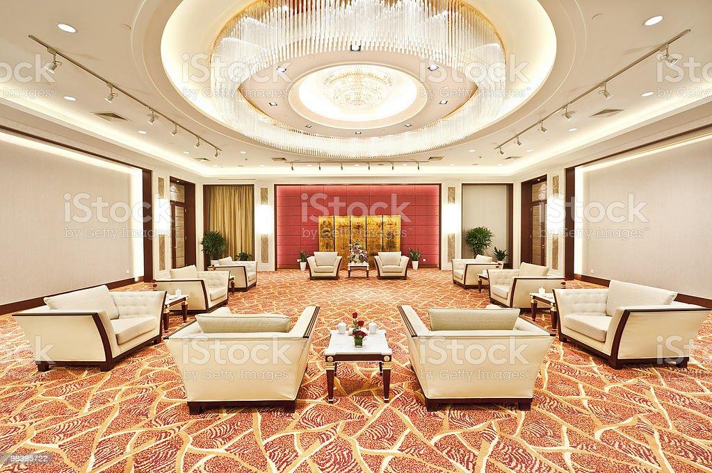 luxury lobby in hotel stock photo