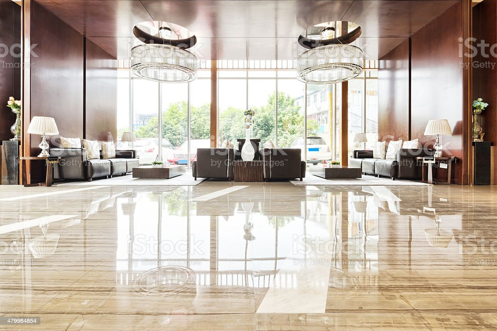 luxury lobby room and funiture stock photo