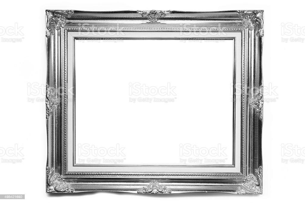 Luxury Louise photo frame over white background stock photo