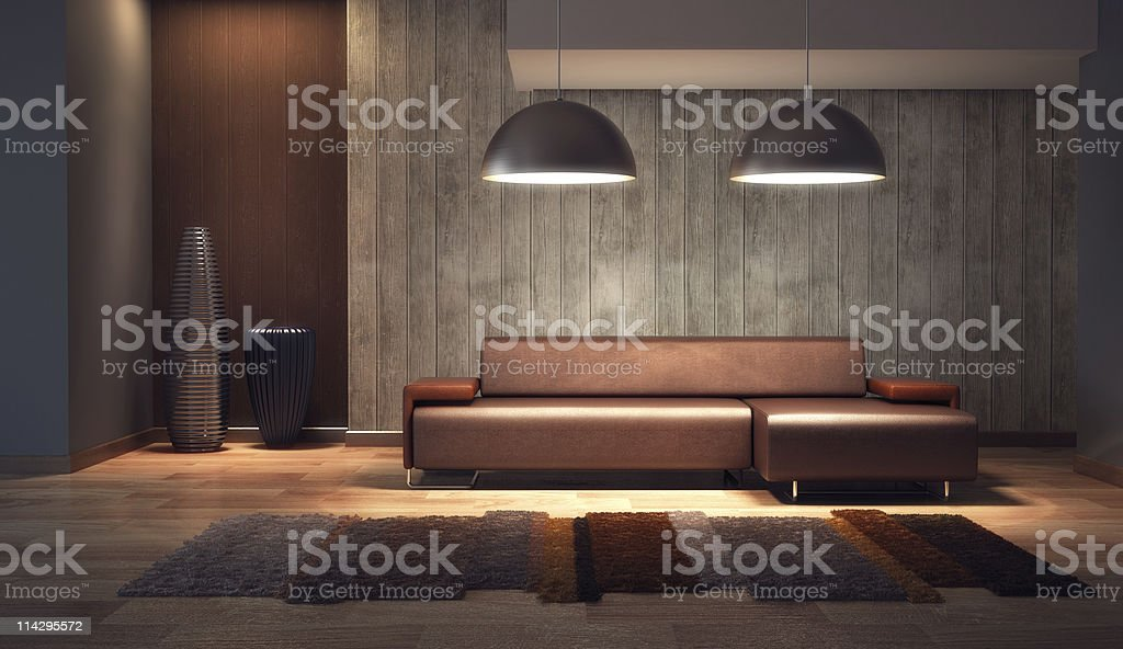 luxury lounge room 3d render royalty-free stock vector art