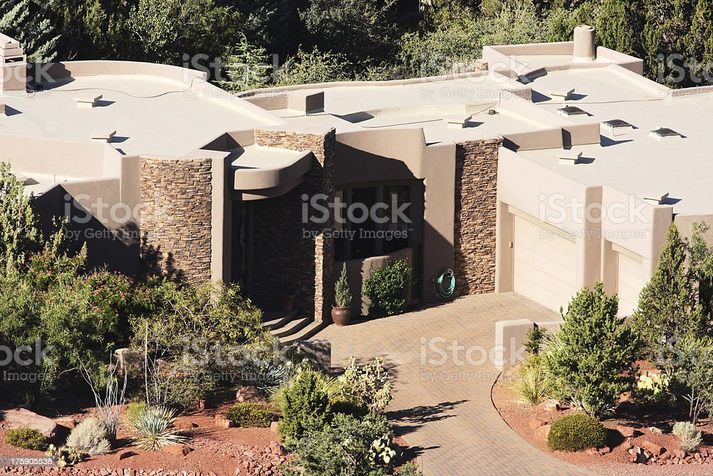 Luxury Mansion Home Facade Yard royalty-free stock photo