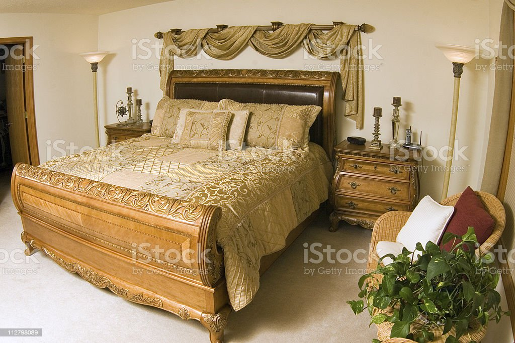 Luxury Master Bedroom - 2 royalty-free stock photo