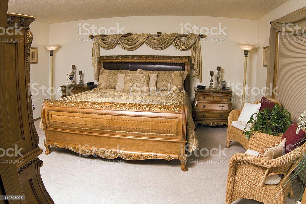 Luxury Master Bedroom - 4 royalty-free stock photo