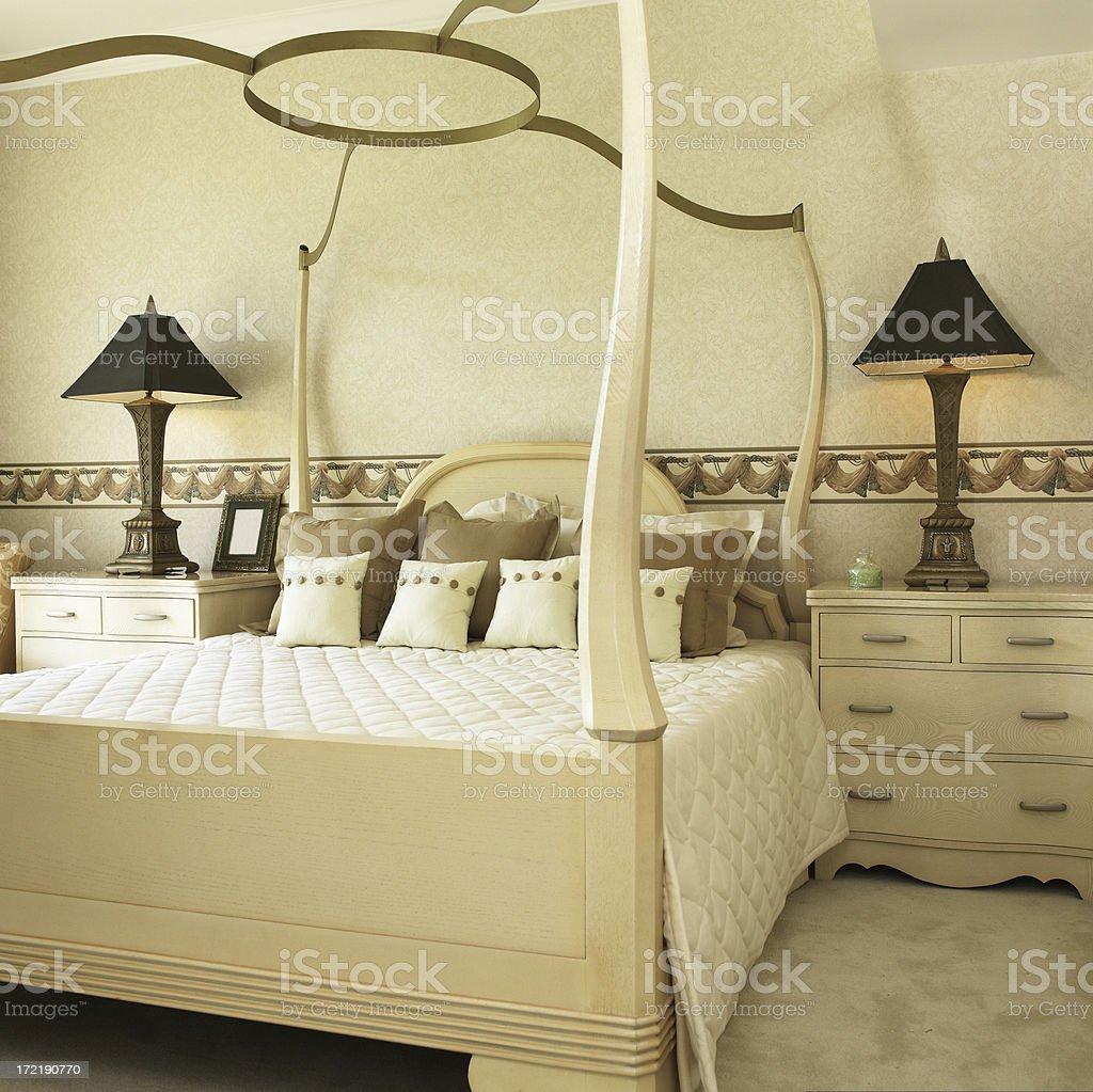 Luxury master bedroom stock photo