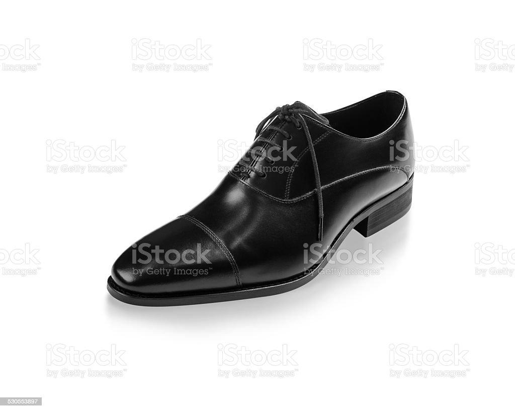 Luxury men shoes isolated on white stock photo