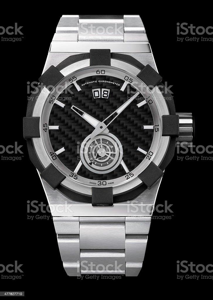 Luxury Mens wrist watch stock photo