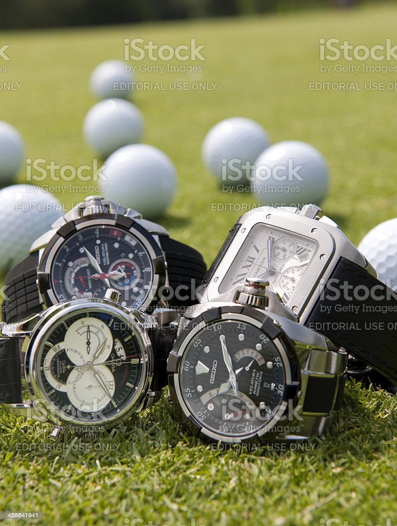 luxury men's wristwatches royalty-free stock photo