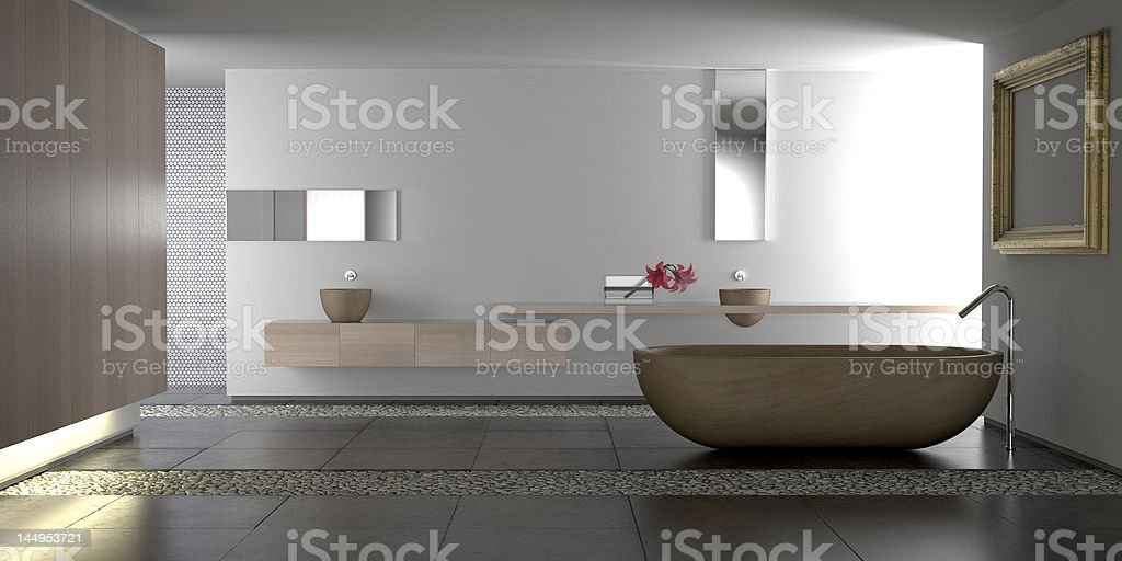 Luxury modern bathroom stock photo
