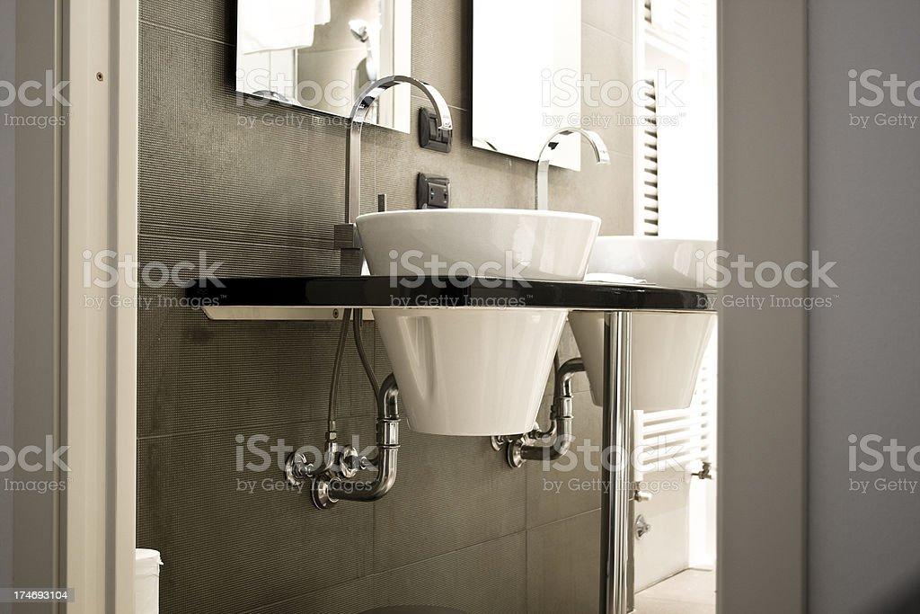 Luxury modern hotel bathroom royalty-free stock photo